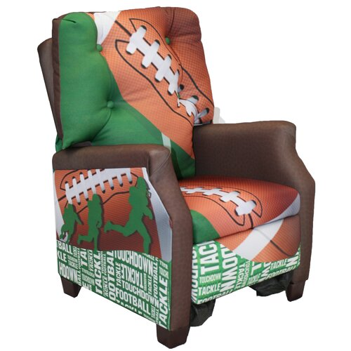 Komfy Kings Football 50 yard Line Kid's Recliner Chair