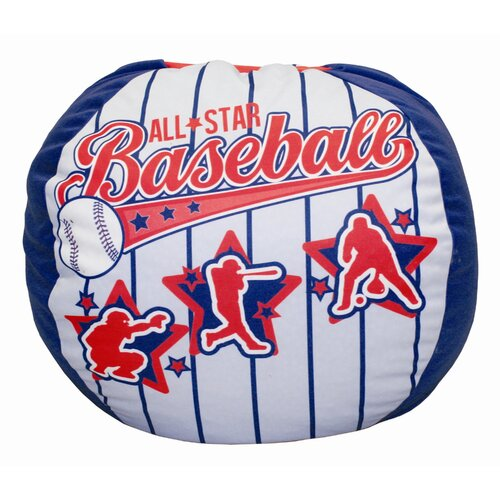Komfy Kings Baseball All Star Bean Bag Chair
