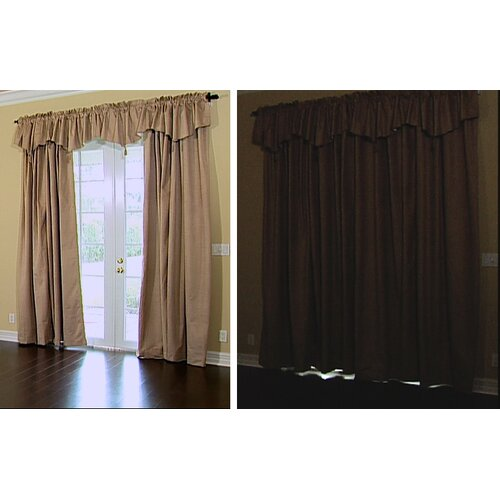 "Sound Asleep Room Darkening Backtab 42"" Window Curtain Valance"