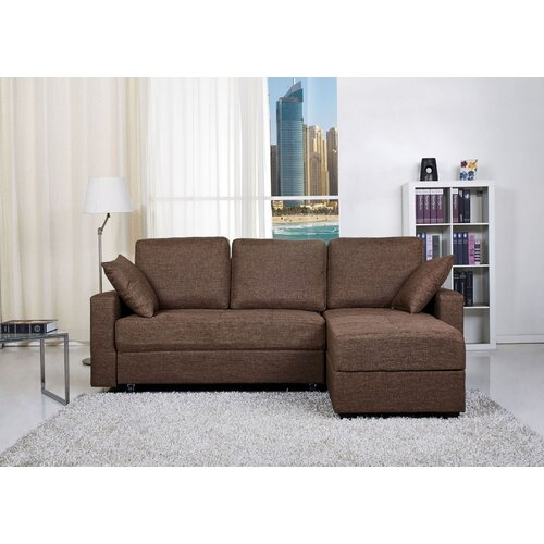 European contemporary sleeper sofa wayfair for Aspen convertible sectional storage sofa bed