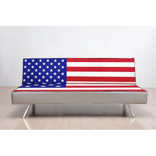 Gold Sparrow American Flag Convertible Sofa