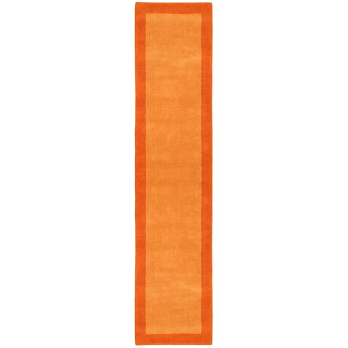 Pulse Orange Border Rug