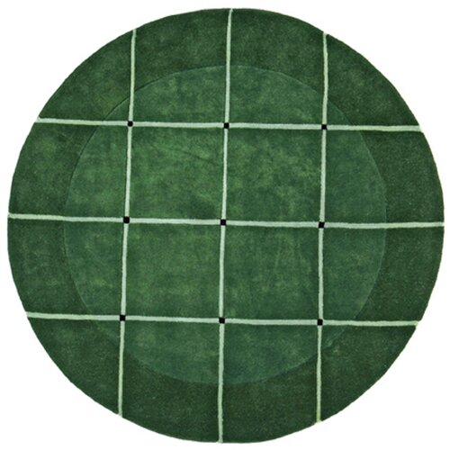 Structure Grid Dark Green/Burgundy Rug