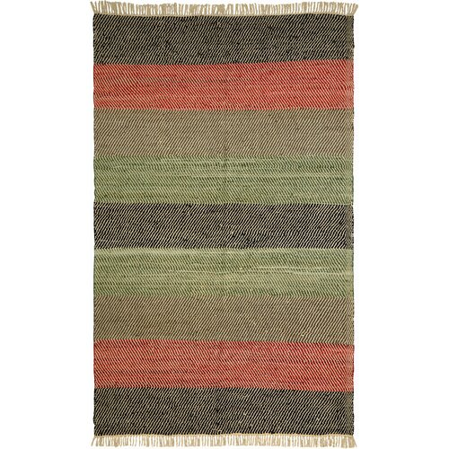 Matador Striped Leather Chindi Rug