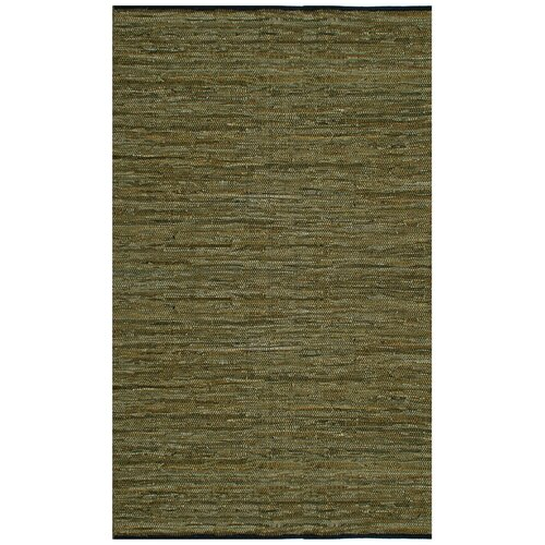Matador Leather Chindi Green Rug