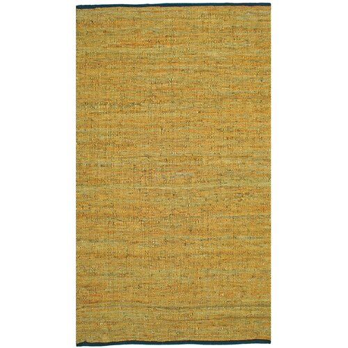 Matador Leather Chindi Gold Rug