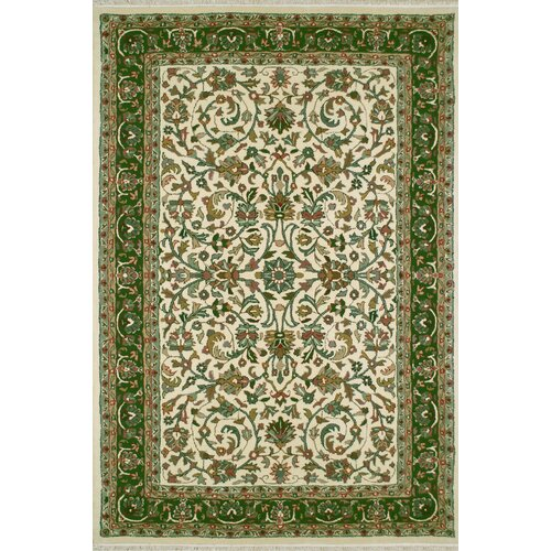 American Home Rug Co. American Home Classic Kashan Ivory/Emerald Rug