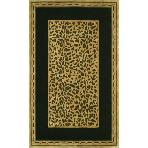 American Home Rug Co. African Safari Gold/Black Cheetah Print Area Rug