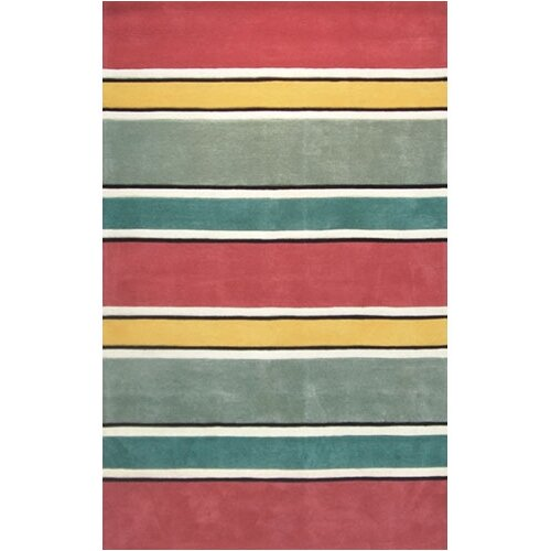 Beach Rug Multi Ocean Stripes Rug