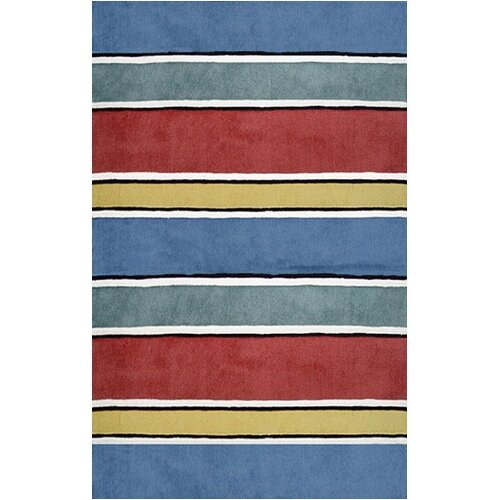 Beach Rug Gem Multi Ocean Stripes Rug