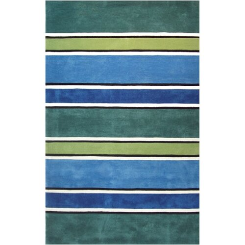 American Home Rug Co. Beach Rug Tropic Multi Ocean Stripes Rug