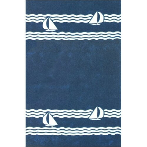 Beach Rug Navy Sailboat Novelty Rug