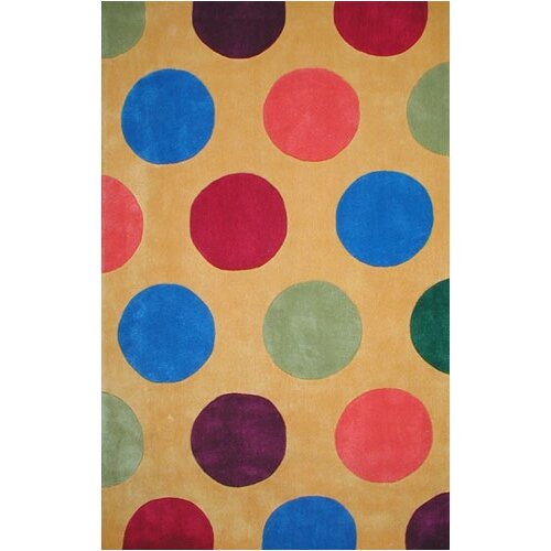 American Home Rug Co. Bright Rug Yellow Dots Novelty Rug