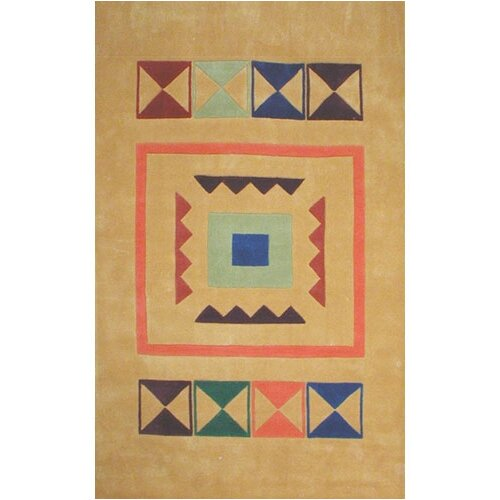 Bright Rug Aztek Yellow Rug