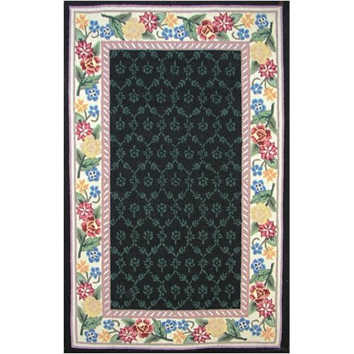 American Home Rug Co. Bucks County Black/Ivory Damask Rug