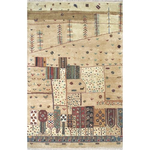 Casual Contemporary Beige/Multi Colors Village Life Rug