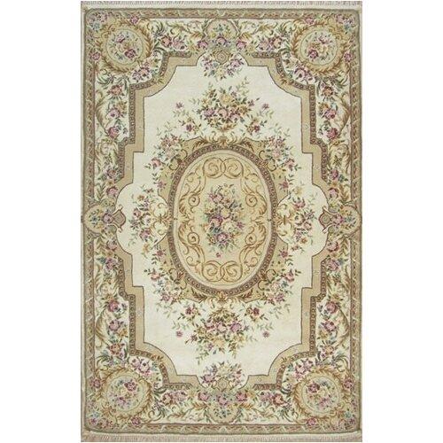 French Elegance Ivory Aubusson Rug