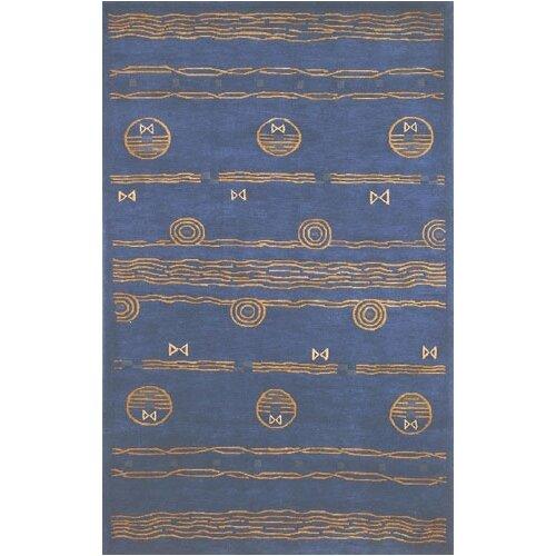 Neo Nepal Blue/Gold Ocean Vibes Rug