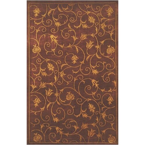 Neo Nepal Wine French Scrolls Rug