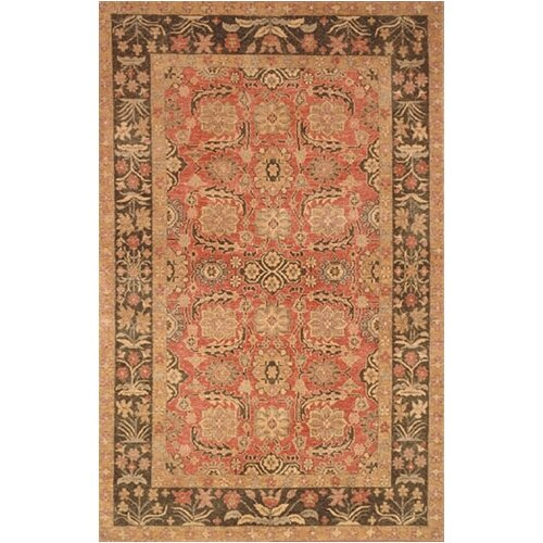 Village Rose/Brown Turkman Rug