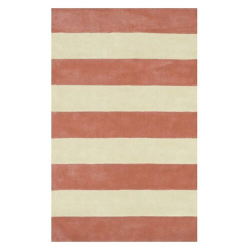 American Home Rug Co. Beach Rug Light Coral/Ivory Boardwalk Stripes Rug