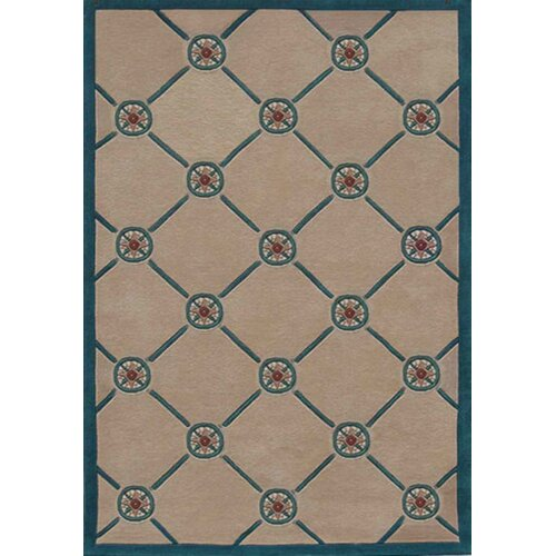 Beach Rug Ivory/Teal Compass Novelty Rug