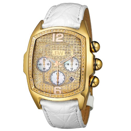 Men's Ceasar Leather Watch in White