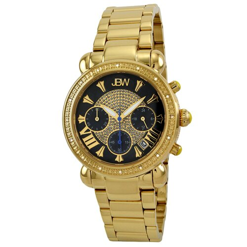Women's Victory Watch in Gold with Black Dial