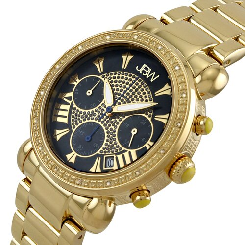 JBW Women's Victory Watch in Gold with Black Dial