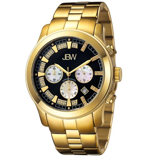 Men's Delano Watch in Gold with Black Dial