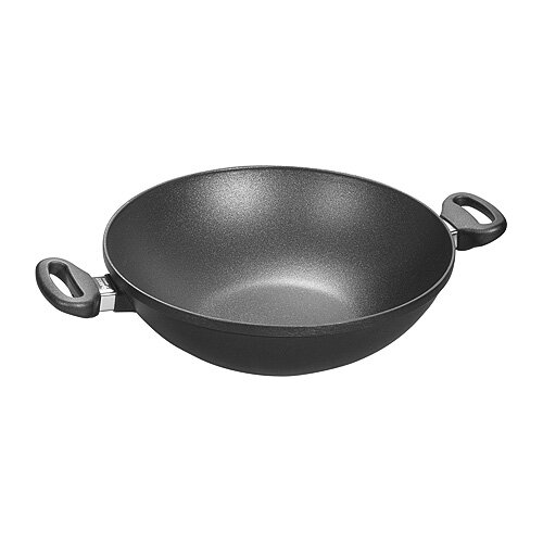 "Woll Cookware Titanium Nowo 12.5"" Wok with Lid"