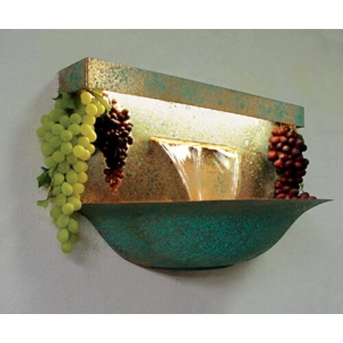 Copper Grape Bowl Wall Mounted Fountain