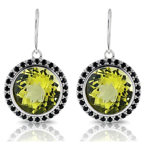 Capri Sterling Silver Black Sapphire Earrings