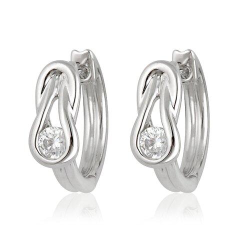 Élan Jewelry Silver-Tone Cubic Zirconia Fashion Earrings