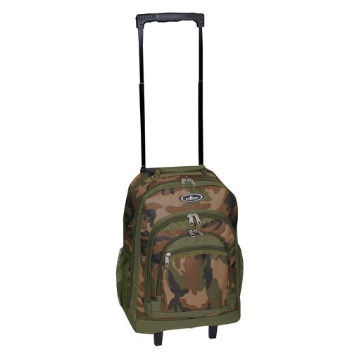 Woodland Camouflage Wheeled Backpack