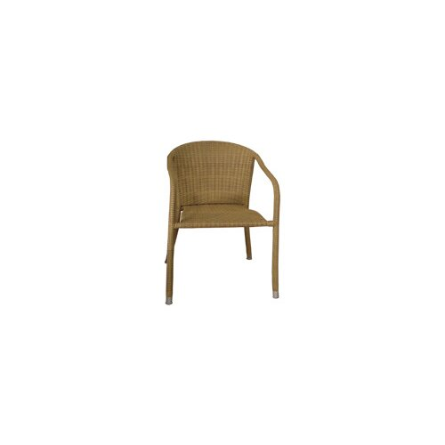 Blue Star Group Terrace Mates Wicker Stacking Dining Arm Chairs (Set of 2)