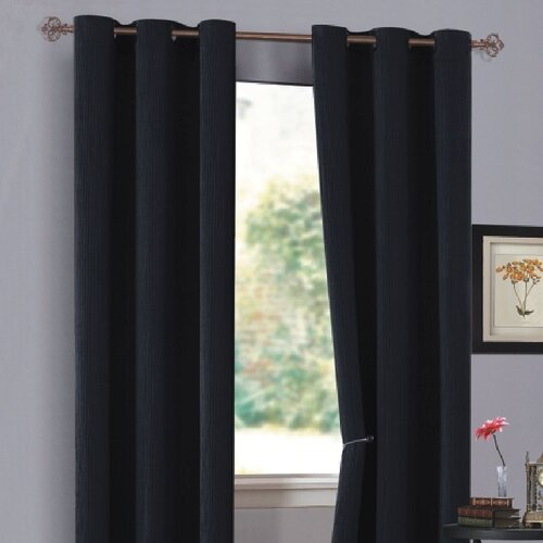DR International Urban Hotel Chenille Grommet Curtain Single Panel