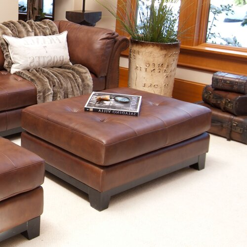 Elements Fine Home Furnishings Corsario Leather Cocktail Ottoman