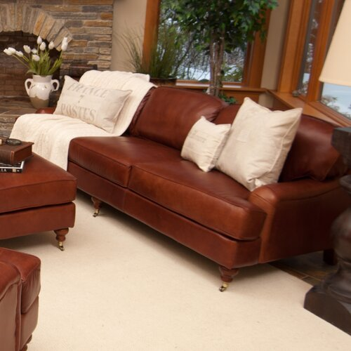 Elements Fine Home Furnishings Cambridge Leather Sofa