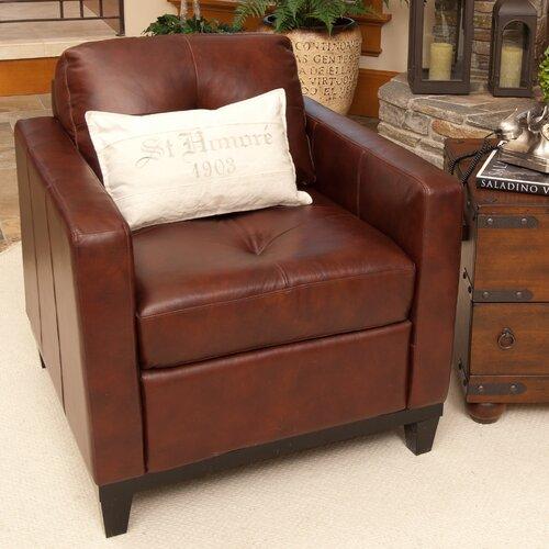 Elements Fine Home Furnishings Carlton Top Grain Leather Chair