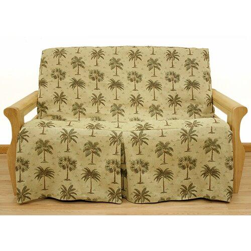 Easy Fit Desert Palm 5 Piece Full Skirted Futon Cover Set