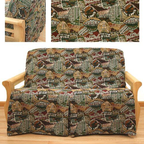 Easy Fit Travel Skirted Futon Cover