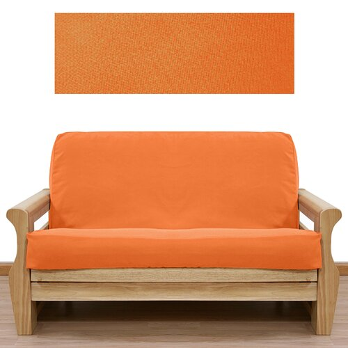 Ultra Suede Pumpkin Orange Futon Cover
