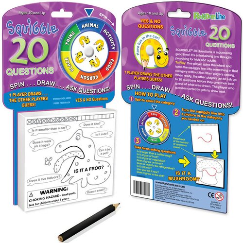 Squiggle 20 Questions Game On-The-Go
