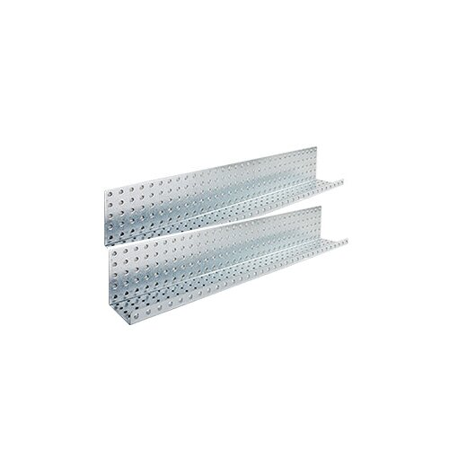 "Alligator Board 32"" x 5"" Metal Pegboard Shelves"