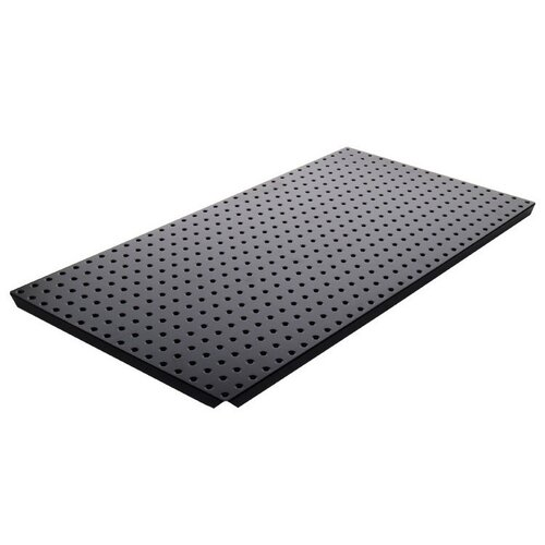 Powder Coated Metal Pegboard Panels with Flange in Black