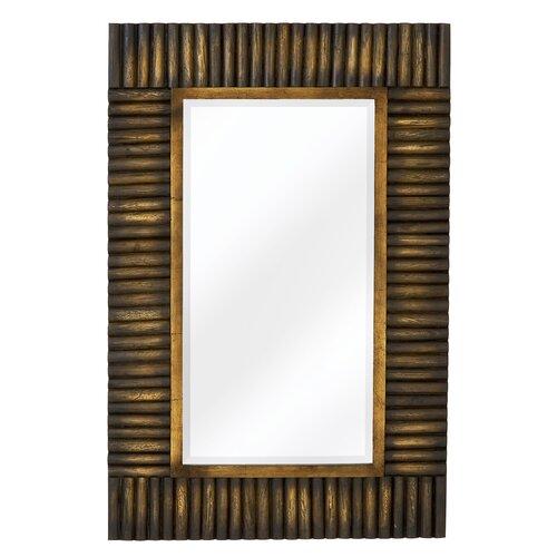 Majestic Mirror Mixed Media Rectangular Bevel Wall Mirror