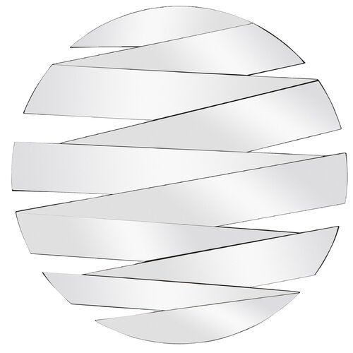 Majestic Mirror Contemporary Round Panel Wall Mirror