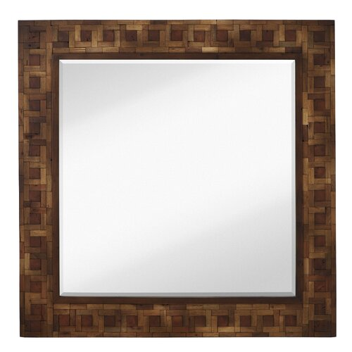 Mixed Media Square Bevel Wall Mirror