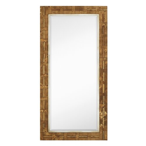 Mixed Media Rectangle Bevel Floor Mirror